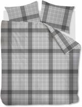 Beddinghouse Keith - Dekbedovertrek - Eenpersoons - 140x200/220 cm + 1 kussensloop 60x70 cm - Grey