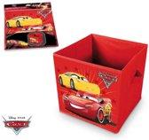 Disney Cars rode opbergdoos 28,5 x 28,5 x 28 cm