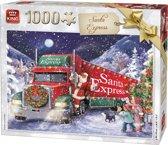 King Puzzel 1000 Stukjes (68 x 49 cm) - Santa Express - Legpuzzel Kerst / Winter