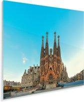 Voorgevel van Sagrada Familia Barcelona Plexiglas 90x90 cm - Foto print op Glas (Plexiglas wanddecoratie)