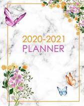 2020-2021 Planner: Weekly and Monthly Planner and Organizer: Jan 2020-Jan 2021 Calendar Schedule & Agenda: Beautiful Floral Design