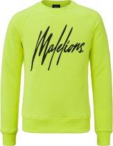 Malelions Crewneck Signature - Neon Yellow