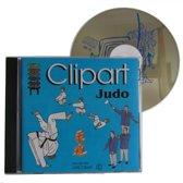 Cd-rom met judo cliparts