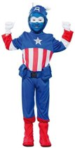 Superheld kapitein kostuum voor jongens 120-130 (7-9 jaar)