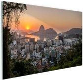Rio de Janeiro in de ochtend Glas 180x120 - XXL cm - Foto print op Glas (Plexiglas wanddecoratie)