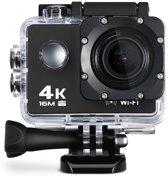 Lipa AT-Q30RM action camera 4K met remote - MIC connectie - Met SD 16 GB