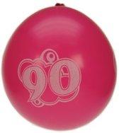 8x Ballonnen 90 jaar