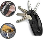 Sleutelbos | Sleutelopberger | Keyboss | Sleutel | Key organizer | Stijlvolle sleutelbos | Sleutelhouder | Sleutelhanger | Aluminium | Zwart