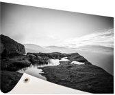 Natuurfoto zwart-wit Tuinposter 60x40 cm - klein - Tuindoek / Buitencanvas / Schilderijen voor buiten (tuin decoratie)