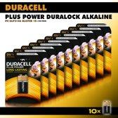 Duracell 9V Alkaline Batterij - 10 stuks