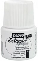 Pébéo Setacolor Witte Textielverf - 45ml textielverf voor donkere en lichte stoffen