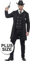 Grote maten sheriff kostuum voor heren 56-58 (XL)