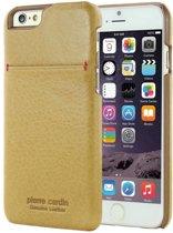 Pierre Cardin Backcover hoesje Geel - Stijlvol - Leer - iPhone 6/6S  - Luxe cover