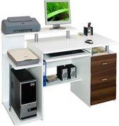 hjh office Stella - Bureau - Computertafel - Wit / walnoot
