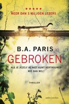 Boek cover Gebroken van B.A. Paris (Paperback)