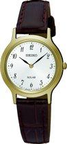 Seiko SUP370P1 horloge dames - bruin - edelstaal doubl�