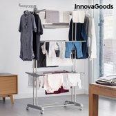 InnovaGoods Opvouwbare Waslijn met Wielen (18 Stangen)