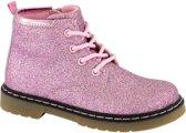 Cupcake Couture Kinderen Roze veterbootie glitter - Maat 25