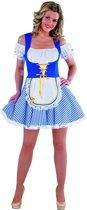 Beiers jurkje in blauw wit | Oktoberfest dirndl maat L (42-44)