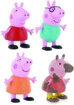 peppa pig speelfigurenset 4 stuks (Comansi, ca. 6 cm)