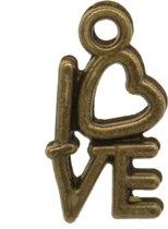 Bedel Love (14 x 8 mm) Brons (20 Stuks)