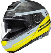 SCHUBERTH C4 PRO CARBON TEMPEST GEEL SYSTEEMHELM S