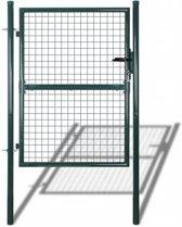 vidaXL Tuinhek poort 85,5x200 cm/100x250 cm staal groen
