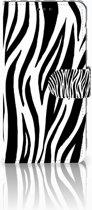 Samsung Galaxy S10 Book Case Design Zebra