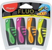 Maped Fluo Peps Mini Highlighters - 4 Stuks