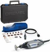 Dremel 3000 Multitool Roterend 130 Watt Inclusief 25 accessoires flexibele as en premium opbergkoffer met machinehouder