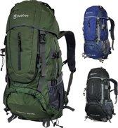 d3cc23954ee Beefree 70 Liter nylon Backpack - Groen | Inclusief regenhoes | Frontlader