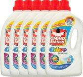 Omino Bianco Color - Gekleurde Was - 6 x 2L (180 Wasbeurten) - Voordeelverpakking