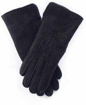 Zwarte Lammy handschoenen suede voor volwassenen 8 (L - 20,5 cm)