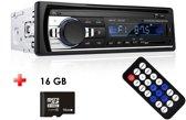 Autoradio met Bluetooth - Handsfree - USB - AUX - SD - Inclusief afstandsbediening - inclusief 16 GB TF kaart