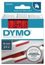 DYMO S0720870 labelprinter-tape Zwart op rood