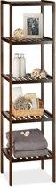 relaxdays - badkamerrek bamboe - houten rek - keukenrek - schoenenrek, opbergrek