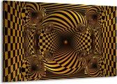 Canvas schilderij Abstract   Geel, Zwart   140x90cm 1Luik