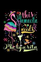 This Mamacita Needs a Margarita: Womens Womens This Mamacita Needs a Margarita Flamingo Mom Journal/Notebook Blank Lined Ruled 6x9 100 Pages