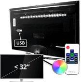 TV led strip | TV verlichting | TV Lamp | set met 1 RGB strip tot 32 inch
