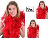 3x Boa rood 180 cm/150 gr.