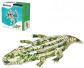 Opblaasbare krokodil met camouflageprint 175 cm - Buitenspeelgoed waterspeelgoed - Opblaasdieren ride-ons