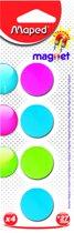 Magneten rond 27 mm - assorti kleuren x 4