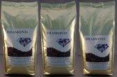 Diamond espressobonen probeerpakket, 4 soorten à 1000 gram, (Verona, Napoli, Roma, Milano)