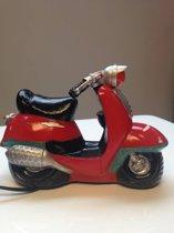 Leuke nachtlamp scooter rood 3D