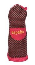 Spaanse schort - Flamenco - keukenschort España zwart rode stip verkleedkleding