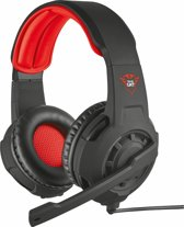 Trust GXT 310 Radius - Gaming Headset (PC + PS4 + Xbox One) - Zwart/Rood