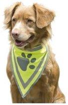 Reflecterende Honden Halsdoek met Klitteband | Reflecterende Veiligheids Doek voor Honden | Honden Bandana | Reflectie Hals Band voor Grote Honden| Sjaal | Maat L | 40x32cm