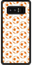 Galaxy Note 8 Hardcase Hoesje Orange Soccer Balls