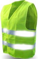 Super Reflecterend Geel Veiligheidsvest - One Size | Fluorescerend | Veiligheids Vest | Veiligheidshesje | Wegwerkersvest | Werkkleding | Hesje voor Klussen | Veiligheid | Pech | BHV | Fluor | Werkkleding en Bescherming