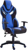Clp Racing bureaustoel FANGIO gaming chair - Stof - Zwart/blauw